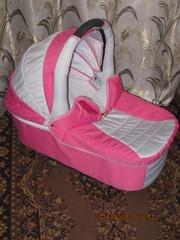 Продам коляску Donatan классик 2 в 1,  розово-серую