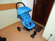 Прогулочная коляска Bambi голубая