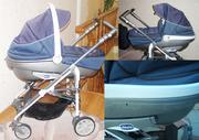 Продам коляску Chicoo Trio Living 2 в 1 синего цвета.
